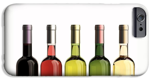 Bottles Of Wine IPhone Case by Bruno Haver