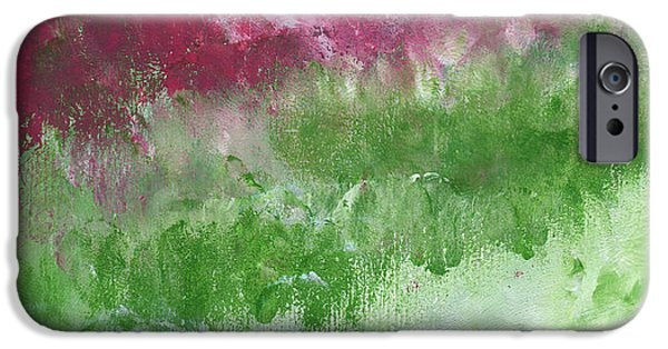 Bougainvillea- Contemporary Impressionist Painting IPhone Case by Linda Woods