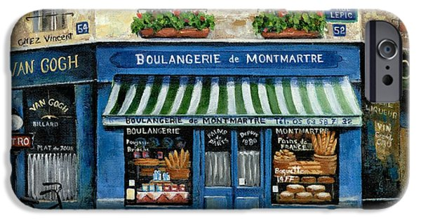 Boulangerie De Montmartre IPhone Case by Marilyn Dunlap