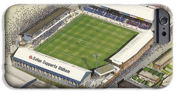 Boundary Park - Oldham Athletic IPhone Case by Kevin Fletcher