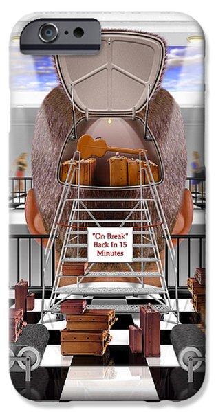 Brain Luggage 2 IPhone Case by Mike McGlothlen