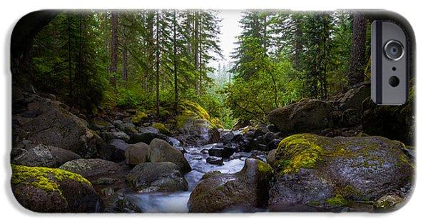 Bridge Below Rainier IPhone Case by Chad Dutson