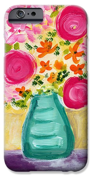 Bright Flowers IPhone Case by Linda Woods