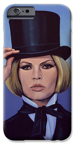 Brigitte Bardot Blue Painting IPhone Case by Paul Meijering