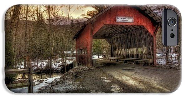 Brookdale Covered Bridge - Stowe Vt IPhone Case by Joann Vitali