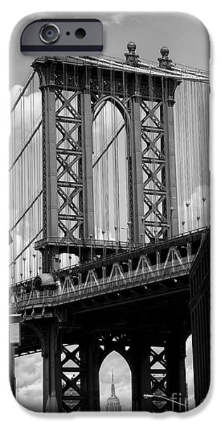 Manhattan Bridge Nyc IPhone Case by Peter Dang