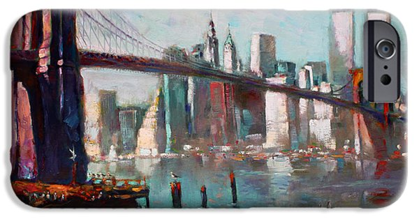 Brooklyn Bridge And Twin Towers IPhone 6s Case by Ylli Haruni