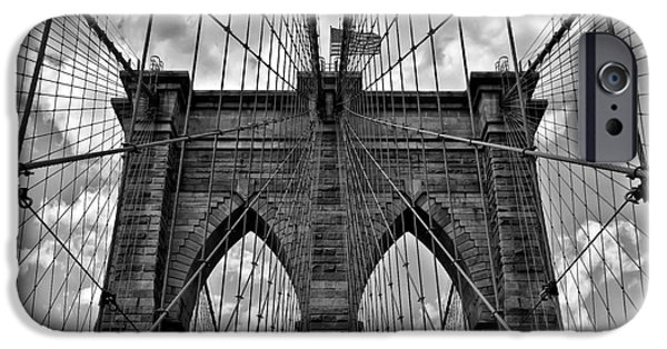 Brooklyn Bridge IPhone Case by Peter Dang