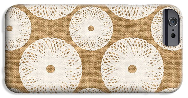Brown And White Floral IPhone 6s Case by Linda Woods