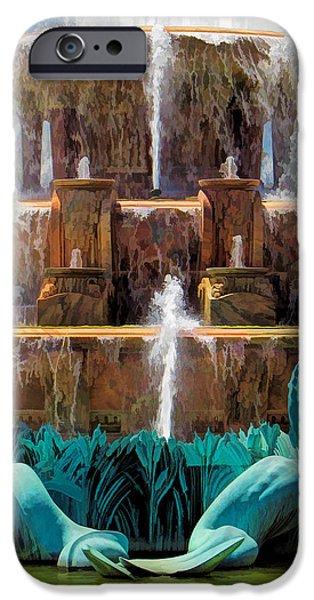 Buckingham Fountain Closeup IPhone Case by Christopher Arndt