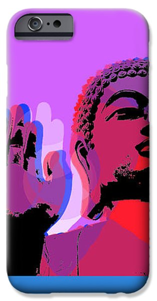 Buddha Pop Art - 4 Panels IPhone Case by Jean luc Comperat