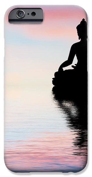 Buddha Reflection IPhone Case by Tim Gainey