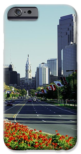 Buildings In A City, Benjamin Franklin IPhone Case by Panoramic Images