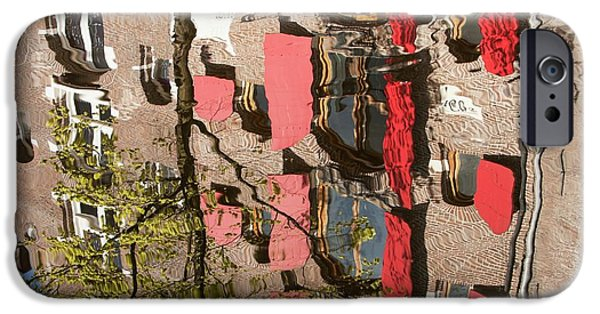 Buildings Reflected In Canal IPhone Case by Ashley Cooper