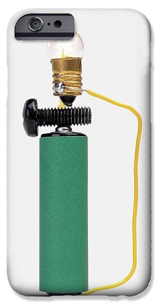 Bulb Resting On Steel Screw IPhone Case by Dorling Kindersley/uig
