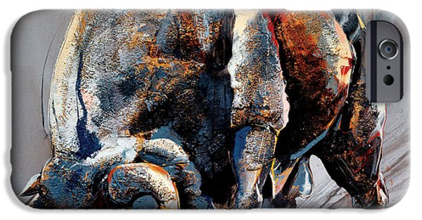 Bull Fight IPhone Case by Dragan Petrovic Pavle