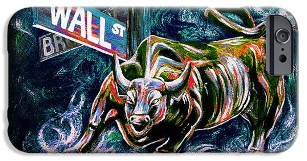 Bull Market Night IPhone Case by Teshia Art