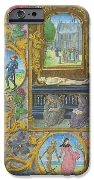 Burial Scene IPhone Case by British Library
