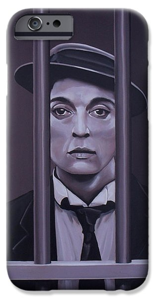Buster Keaton Painting IPhone Case by Paul Meijering