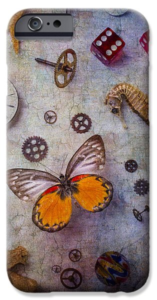 Butterfly And Seahorse IPhone Case by Garry Gay