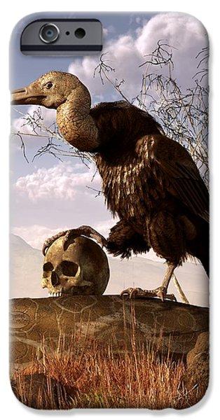 Buzzard With A Skull IPhone 6s Case by Daniel Eskridge