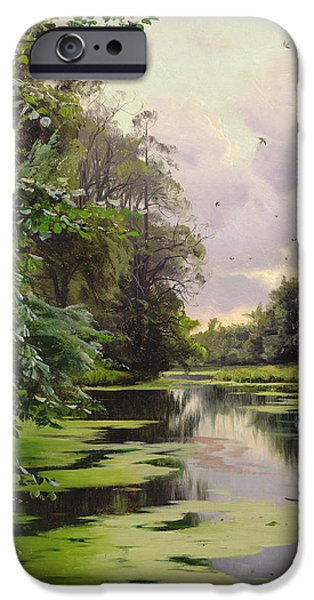 By The Lake II IPhone Case by Peder Monsted