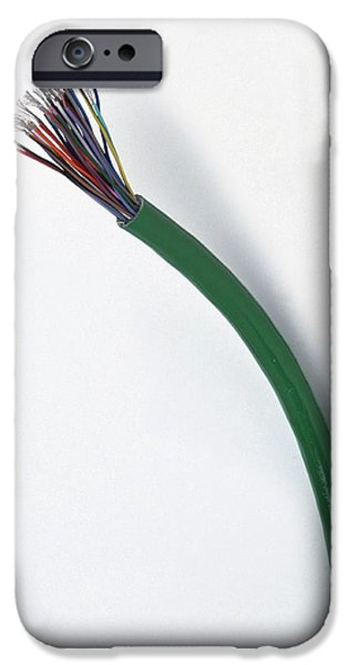 Cable With The Wires Exposed IPhone Case by Dorling Kindersley/uig