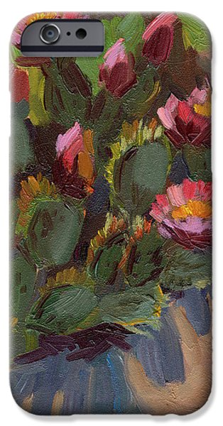 Cactus In Bloom 2 IPhone Case by Diane McClary