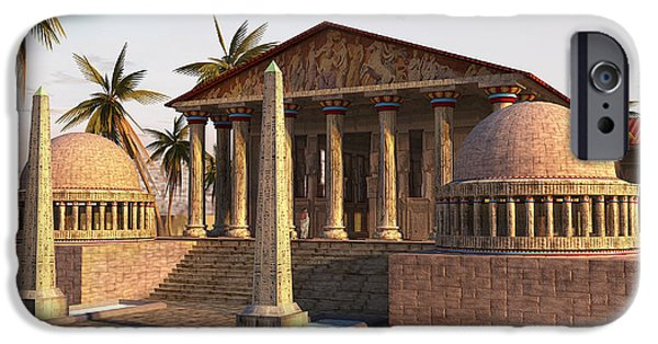 Caesareum Temple Ancient Alexandria IPhone Case by Don Dixon
