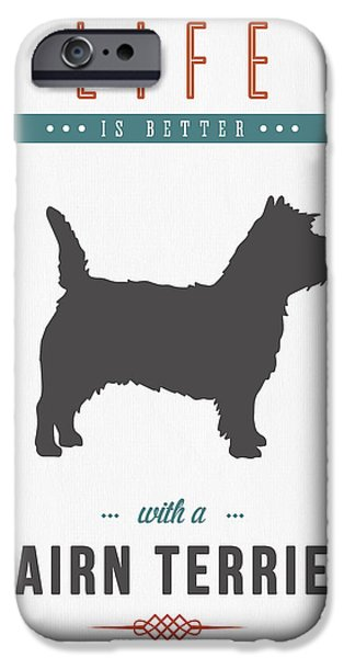Cairn Terrier 01 IPhone Case by Aged Pixel