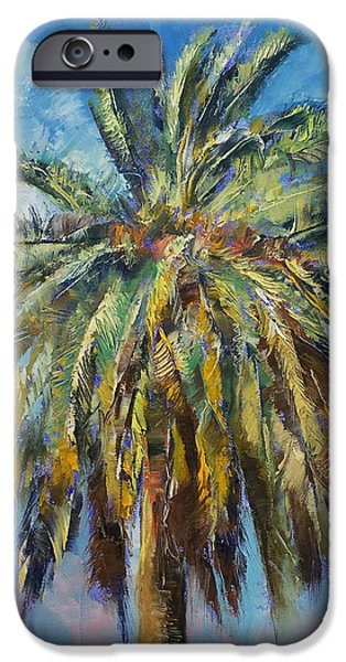 Canary Island Date Palm IPhone Case by Michael Creese