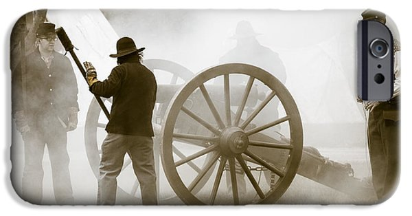 Cannon Fire At Plattsburg IPhone Case by Steven Bateson