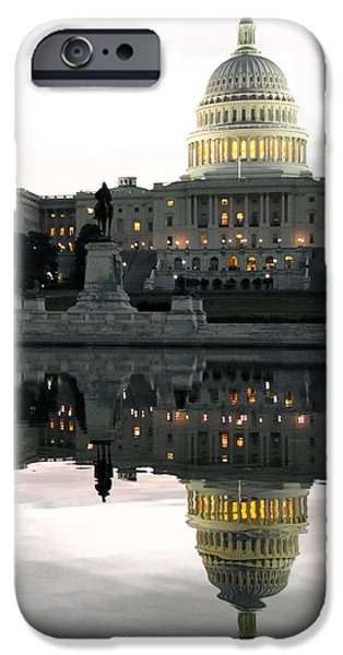 Capitol Reflection IPhone Case by Mitch Cat