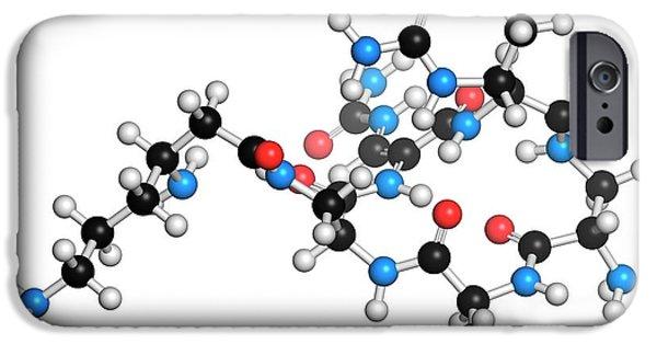 Capreomycin Antibiotic Drug Molecule IPhone Case by Molekuul