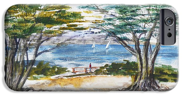 Carmel By The Sea California IPhone Case by Irina Sztukowski