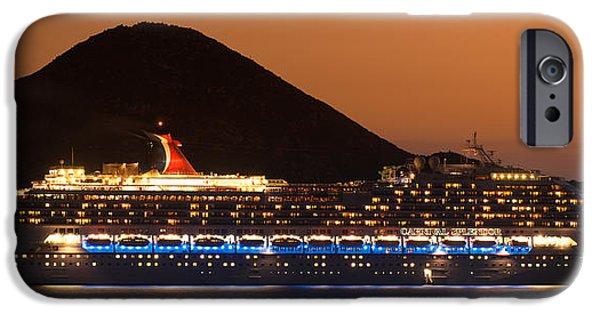 Carnival Splendor At Cabo San Lucas IPhone Case by Sebastian Musial