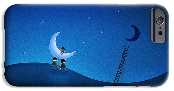 Carry The Moon IPhone Case by Gianfranco Weiss