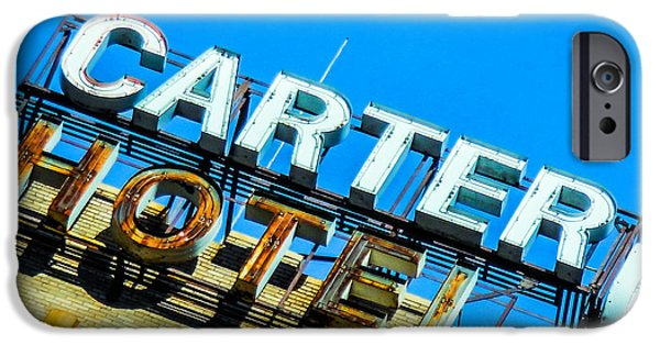 Carter Hotel Sign IPhone Case by Jon Woodhams