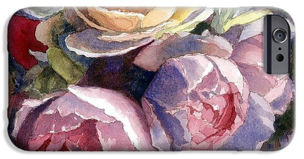 Caryn's Roses IPhone Case by Janet King