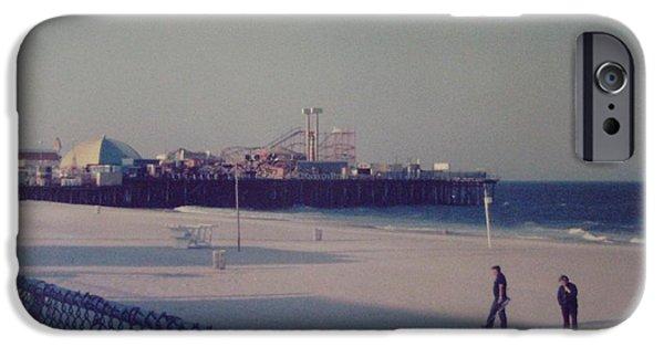 Casino Pier Seaside Heights Nj IPhone Case by Joann Renner