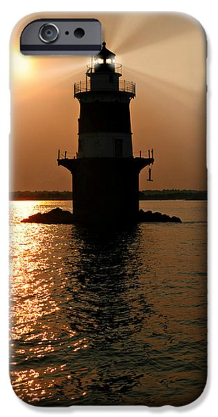 Peck's Ledge Lighthouse IPhone Case by Diana Angstadt