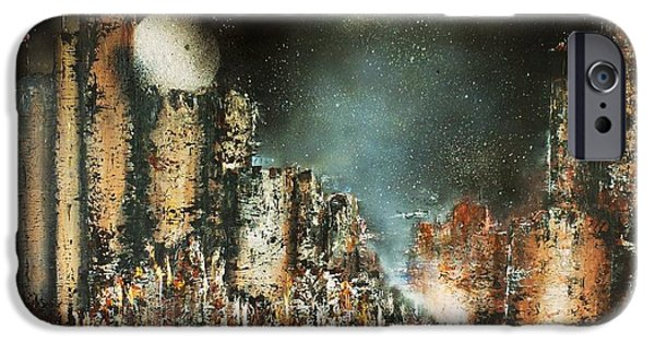 Castle Moonrise IPhone Case by Kaye Miller-Dewing