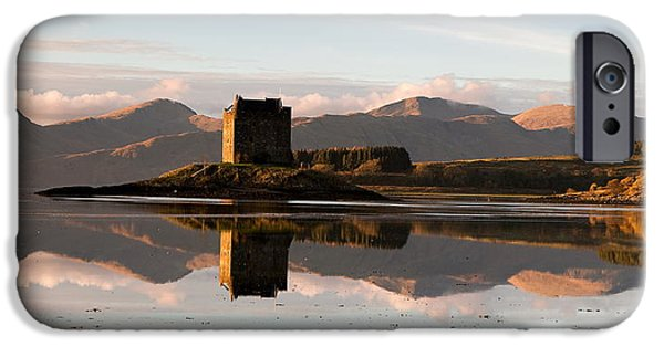 Castle Stalker - Sunset IPhone Case by Pat Speirs