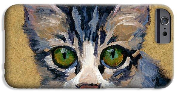 Cat Eyes IPhone Case by Alice Leggett