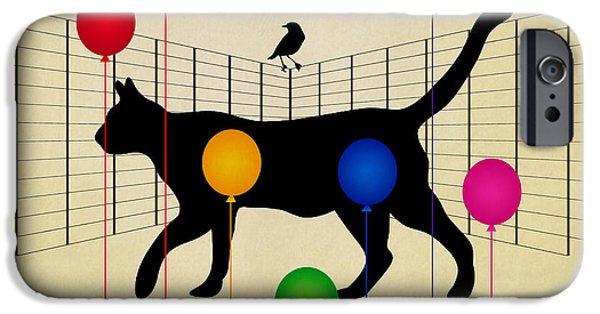 cat IPhone Case by Mark Ashkenazi