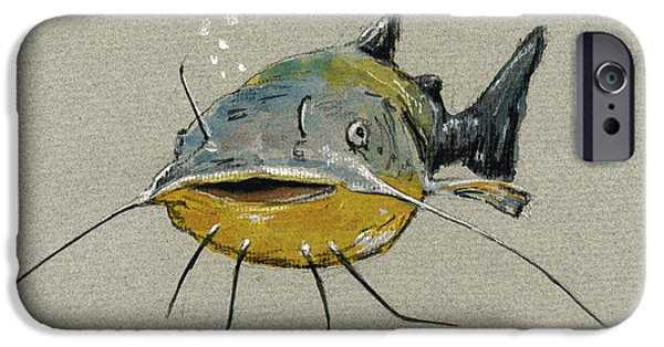 Catfish IPhone Case by Juan  Bosco