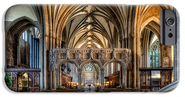 Cathedral Interior IPhone Case by Adrian Evans