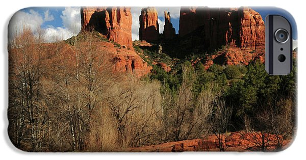 Cathedral Rock At Sunset, Red Rock IPhone Case by Michel Hersen