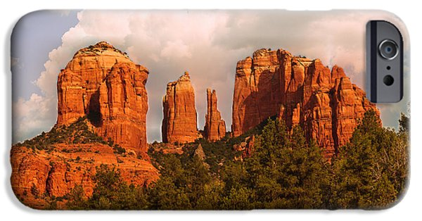Cathedral Rock Sunset IPhone Case by Bob and Nadine Johnston