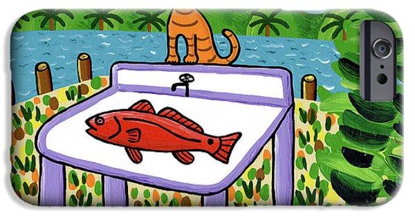 Cat's Fish - Cedar Key IPhone Case by Mike Segal